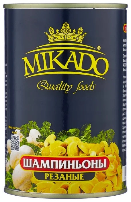 Грибы Mikado шампиньоны резаные,400г | Супермаркеты ...